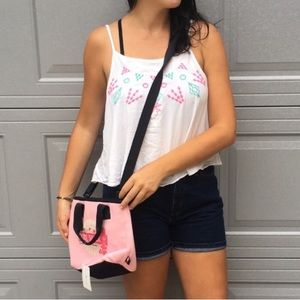 Tommy Hilfiger Pink Surf Shack Crossbody/Tote